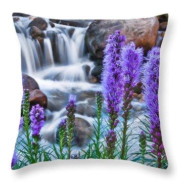 Rocky Mountain Wildflowers Throw Pillow