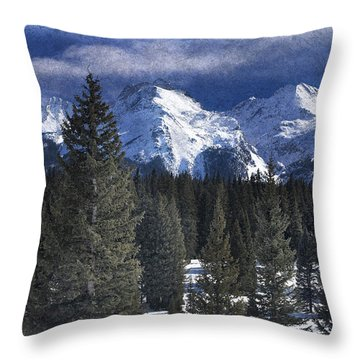 Rocky Mountains, Colorado Throw Pillow