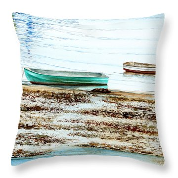 Rocky Neck Runabout Skiff Throw Pillow