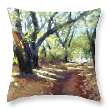 Rocky Oak Park Throw Pillow