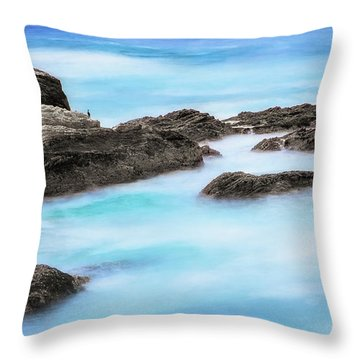 Rocky Ocean Throw Pillow