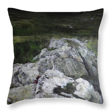 Rocky Outcrop Throw Pillow by Harry Robertson