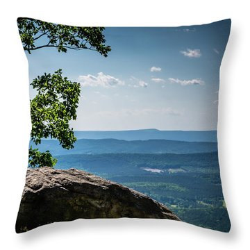 Rocky Perch Throw Pillow