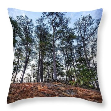 Throw Pillow featuring the photograph Rocky Pines by Alan Raasch