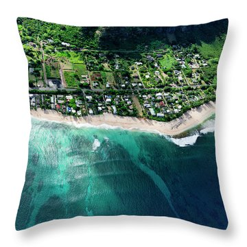 Rocky Point Overview. Throw Pillow