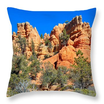 Throw Pillow featuring the photograph Rocky Range At Red Canyon by John M Bailey