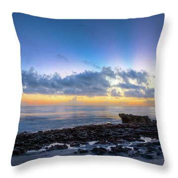 Throw Pillow featuring the photograph Rocky Reef At Low Tide by Debra and Dave Vanderlaan