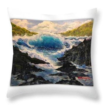 Rocky Sea Throw Pillow