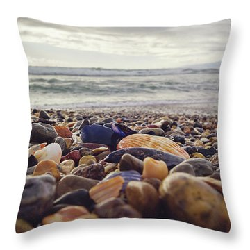 Throw Pillow featuring the photograph Rocky Shore by April Reppucci