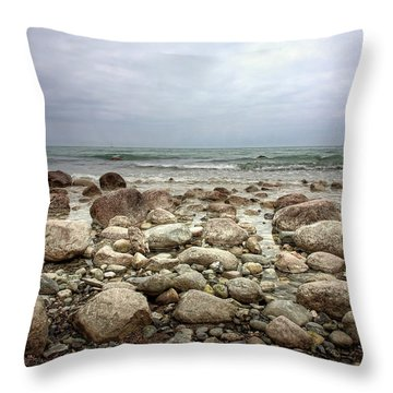 Throw Pillow featuring the photograph Rocky Shore by Stefan Nielsen