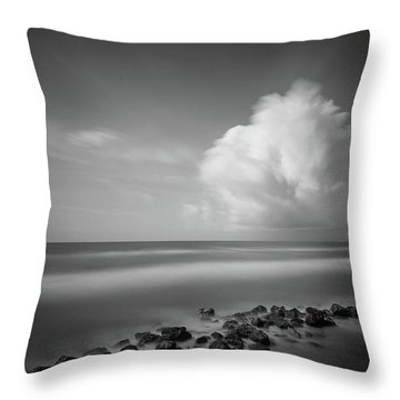 Rocky Shoreline Throw Pillow