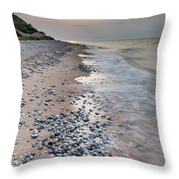 Rocky Shores At Sleeping Bear Point Throw Pillow