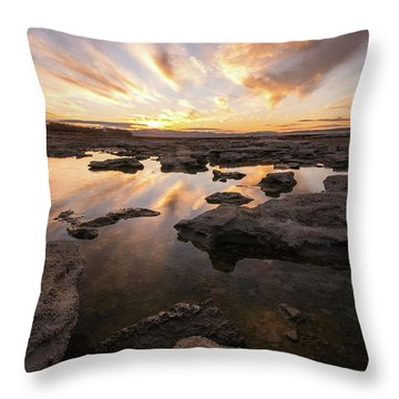Rocky Shores Of Utah Lake Throw Pillow