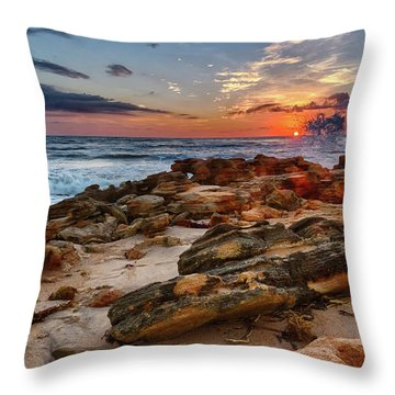 Rocky Sunrise Throw Pillow