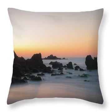 Rocky Sunrise Throw Pillow by Ralph Vazquez