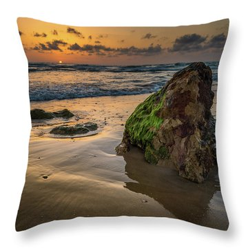 Rocky Sunset Throw Pillow