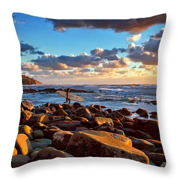 Rocky Surf Conditions Throw Pillow