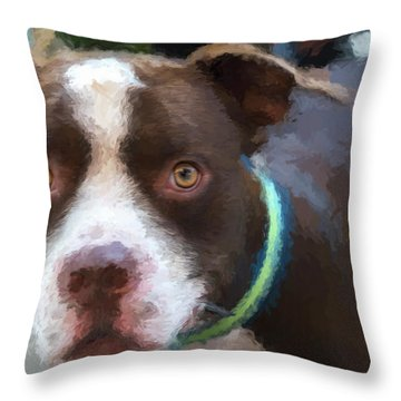 Rocky The Renoir Throw Pillow