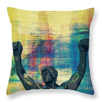 Rocky V1 Throw Pillow
