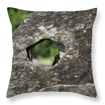 Throw Pillow featuring the photograph Rocky View Point by Debbie Cundy