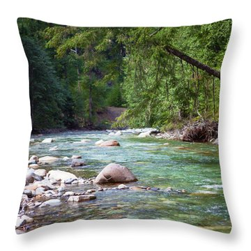 Rocky Waters In The North Cascades Landscape Photography By Omas Throw Pillow