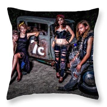 Rodders #4 Throw Pillow
