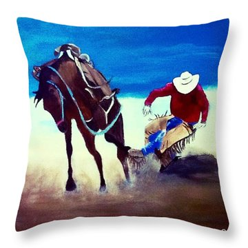 Rodeo Ballet Throw Pillow by Catherine Swerediuk