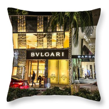 Throw Pillow featuring the photograph Rodeo Drive 1 by Robert Hebert