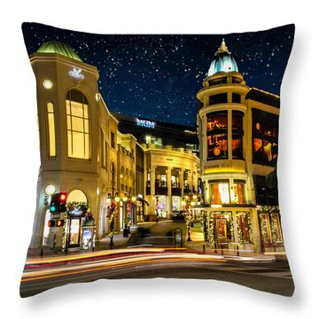 Rodeo Drive Under The Stars Throw Pillow by Robert Hebert