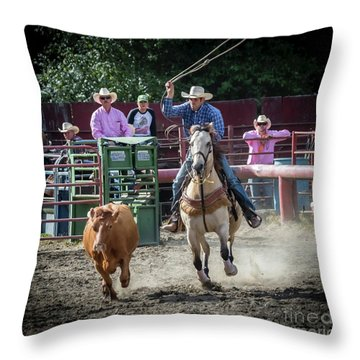 Cowboy In Action#1 Throw Pillow