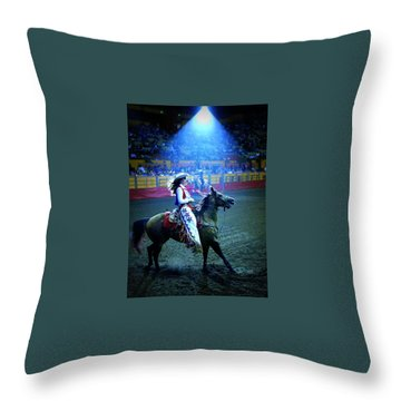 Rodeo Queen In The Spotlight Throw Pillow
