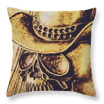 Rodeo Spook Throw Pillow
