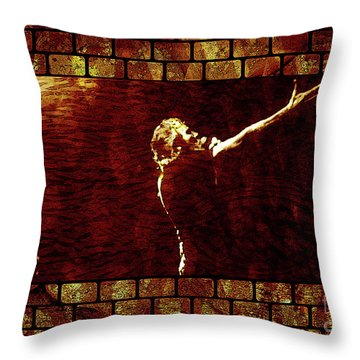 Rodger Waters The Wall Throw Pillow by Robert Ball