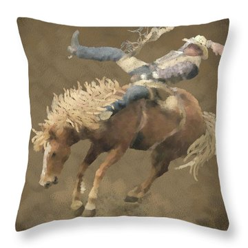 Rodeo Rider Throw Pillow