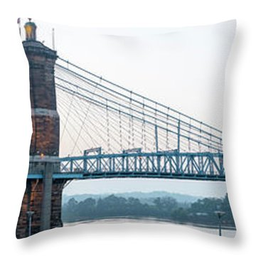 Roebling Bridge Throw Pillow