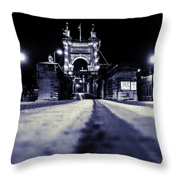 Roebling Suspension Bridge Throw Pillow