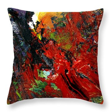Throw Pillow featuring the painting Roen by Charlie Spear