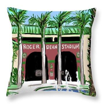 Roger Dean Stadium Throw Pillow