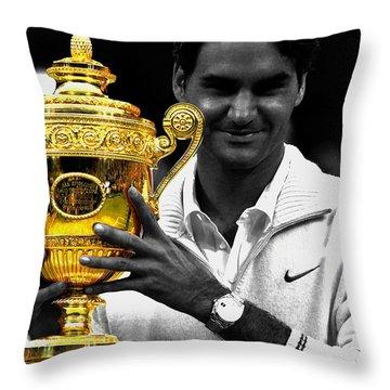Roger Federer 2a Throw Pillow