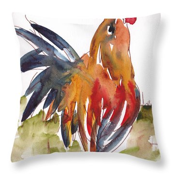 Rognonas Rooster Throw Pillow