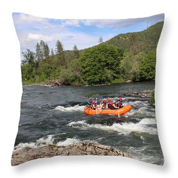 Rogue River Fun Throw Pillow