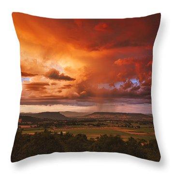 Rogue Valley Sunset Throw Pillow