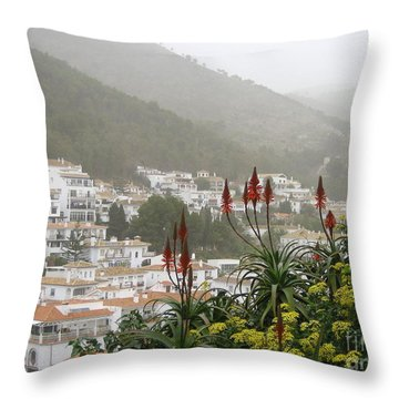 Rojo In The Pueblos Blancos Throw Pillow by Suzanne Oesterling
