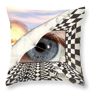 Roll Back Throw Pillow