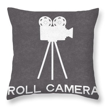Roll Camera- Art By Linda Woods Throw Pillow