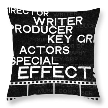 Roll Credits- Art By Linda Woods Throw Pillow