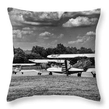 Throw Pillow featuring the photograph Roll Out  For Take Off by Alan Raasch