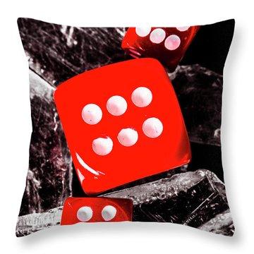 Roll Play Of Still Life Throw Pillow