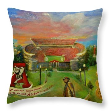 Roll Tide Throw Pillow by Ann Bailey