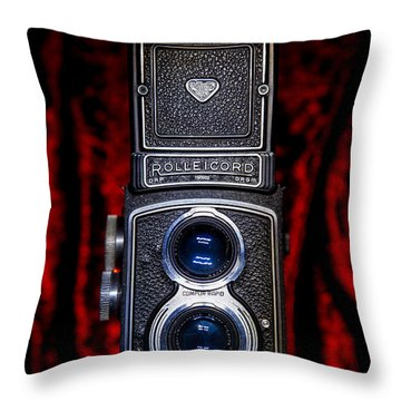 Throw Pillow featuring the photograph Rollei by Keith Hawley